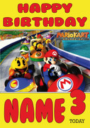 Retro Gaming Mario Kart Personalised Card