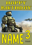 Retro Gaming Master Chief Personalised Card
