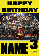 Retro Gaming Mortal Kombat Personalised Card 2