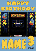 Retro Gaming Pacman Video Game Personalised Card