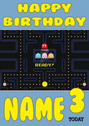 Retro Gaming Pacman Video Game Personalised Card 2