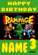 Retro Gaming Rampage Video Game Personalised Card