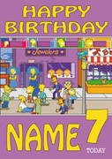 Retro Gaming Simpsons Video Game Personalised Card