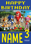 Retro Gaming Sonic The Hedge Hog Characters Personalised Card