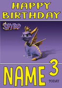 Retro Gaming Spyro Personalised Card
