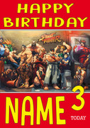 Retro Gaming Street Fighter Personalised Card