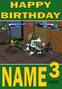 Retro Gaming Teenage Mutant Ninja Turtles Personalised Card