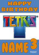 Retro Gaming Tetris Personalised Card 2