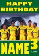 Australian Cricket Team Personalised Card 2