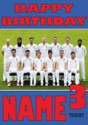 England Team Personalised Card