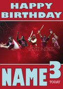 West Indies Personalised Card 2