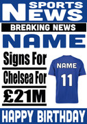 Signed for Chelsea Personalised Card