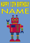 Robot Personalised Card