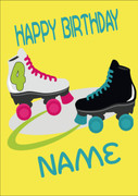 Roller Blades Personalised Card