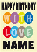 WITH LOVE Personalised Card