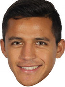 Alexis Sanchez Celebrity Face Mask