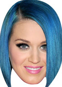 Katy Perry Straight Blue Celebrity Face Mask