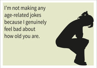 Age-related jokes Personalised Birthday Card
