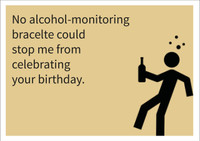 Alcohol-monitoring Personalised Birthday Card