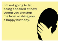 Appalled Personalised Birthday Card