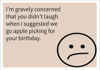 Apple picking Personalised Birthday Card