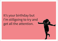 Attention Personalised Birthday Card
