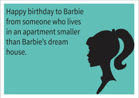 Barbie Personalised Birthday Card