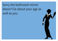 Bathroom Mirror Personalised Birthday Card