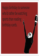 Watch sports Personalised Birthday Card