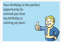 Birthday Reminder Personalised Birthday Card