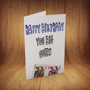 You-big-queen Personalised Birthday Card