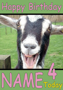 Happy Goat Personalised Birthday Card