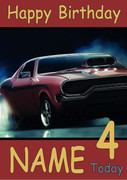 American Muscle Car Personalised Birthday Card