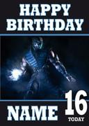 Mortal Kombat Sub-Zero Personalised Birthday Card