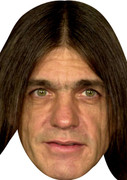 Acdc Malcolm Young - Celebrity Face Mask