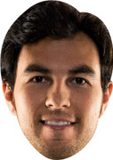 Sergio Perez - Celebrity Face Mask