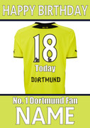 Dortmund Fan Happy Birthday Football