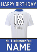 Leicester Fan Happy Birthday Football