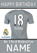Real Madrid Fan Happy Birthday Football