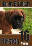 Boxer Pup Dogs And Puppies Happy Birthday