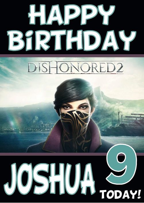 Dishonoured 2 Birthday Card Celebrity Facemasks