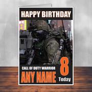 Call Of Duty Shaun 3 Personalised Birthday Card