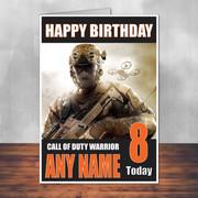 Call Of Duty Shaun 4 Personalised Birthday Card