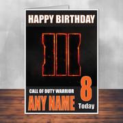 Call Of Duty Shaun 5 Personalised Birthday Card