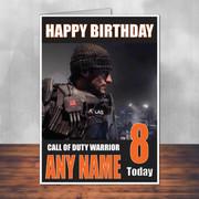 Call Of Duty Shaun 6 Personalised Birthday Card