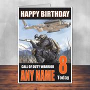 Call Of Duty Shaun 7 Personalised Birthday Card