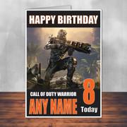 Call Of Duty Shaun 8 Personalised Birthday Card
