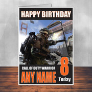 Call Of Duty Shaun 10 Personalised Birthday Card