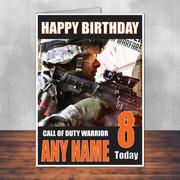 Call Of Duty Shaun 11 Personalised Birthday Card