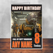 Call Of Duty Shaun 12 Personalised Birthday Card